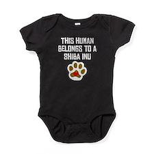 This Human Belongs To A Shiba Inu Baby Bodysuit