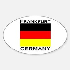 Frankfurt, Germany Oval Decal