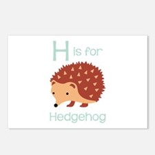 H Is For Hedgehog Postcards (Package of 8)