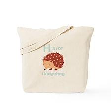 H Is For Hedgehog Tote Bag