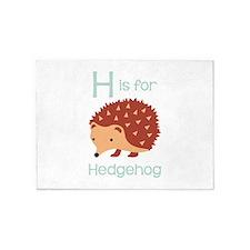 H Is For Hedgehog 5'x7'Area Rug