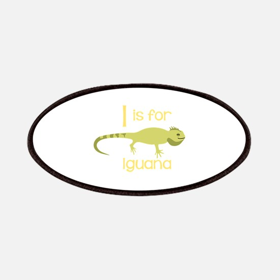 I Is For Iguana Patches