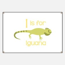 I Is For Iguana Banner