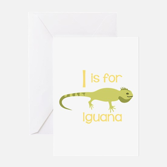 I Is For Iguana Greeting Cards