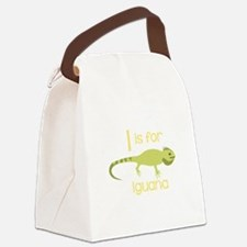 I Is For Iguana Canvas Lunch Bag