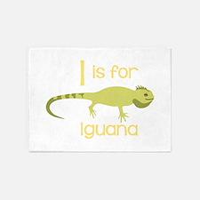 I Is For Iguana 5'x7'Area Rug