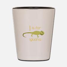 I Is For Iguana Shot Glass