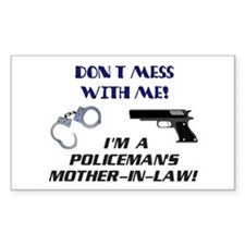 Don't Mess Mother in Law Rectangle Decal