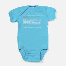 Blue Screen of Death Baby Bodysuit