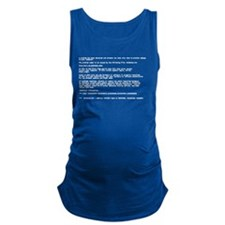 Blue Screen of Death Maternity Tank Top