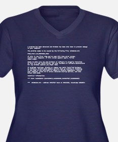 Blue Screen of Death Plus Size T-Shirt