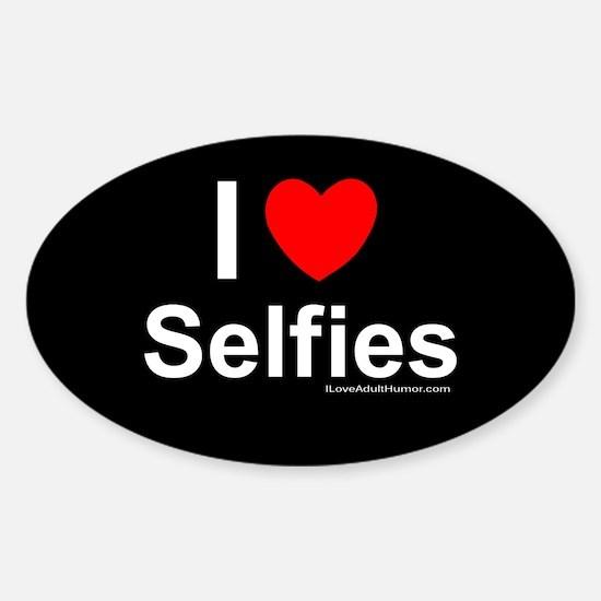 Selfies Sticker (Oval)
