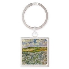 Wheatfields Square Keychain