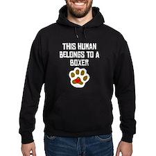 This Human Belongs To A Boxer Hoodie