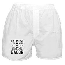Exercise Bacon Boxer Shorts