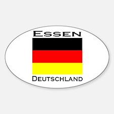 Essen, Deutschland Oval Decal