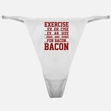 Exercise Bacon Classic Thong