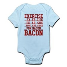 Exercise Bacon Infant Bodysuit