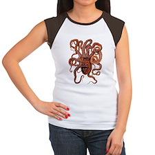 Vintage Octopus Women's Cap Sleeve T-Shirt