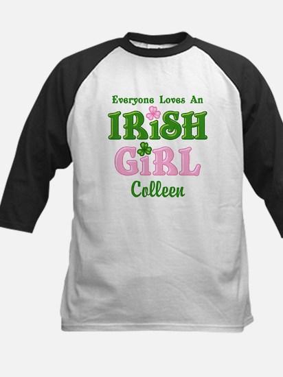 Personalized Loves An Irish G Kids Baseball Jersey