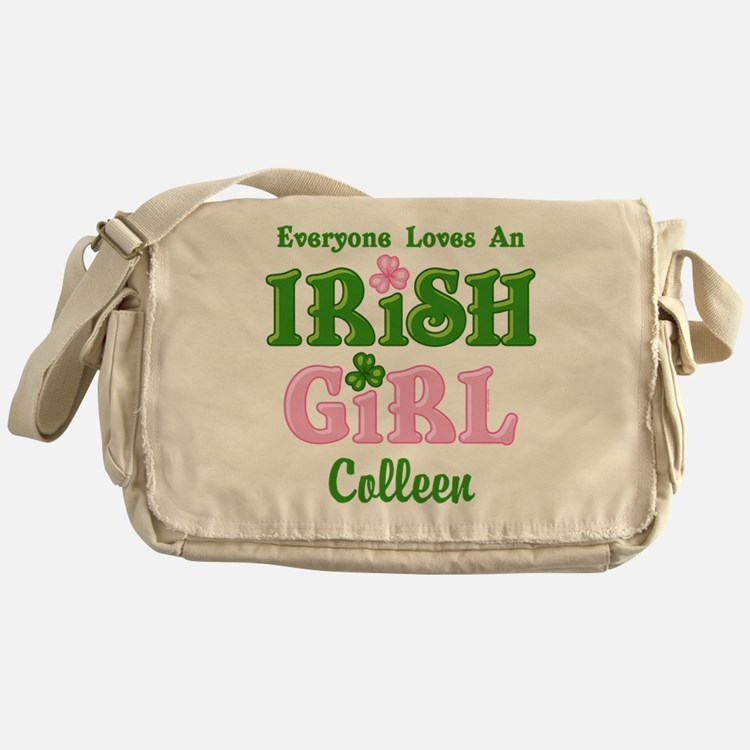 Personalized Loves An Irish Girl Messenger Bag