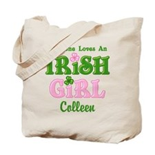 Personalized Loves An Irish Girl Tote Bag
