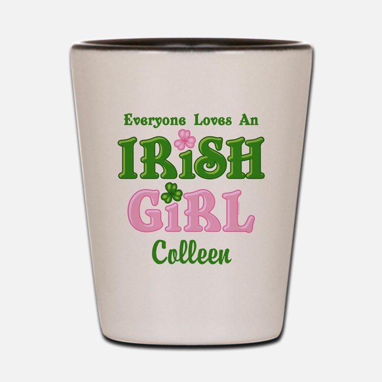 Personalized Loves An Irish Girl Shot Glass