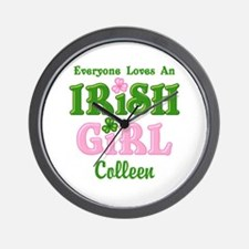 Personalized Loves An Irish Girl Wall Clock
