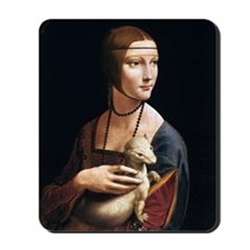 Lady with an Ermine Mousepad