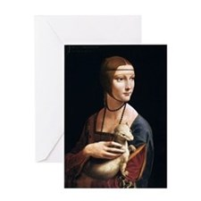 Lady with an Ermine Greeting Card