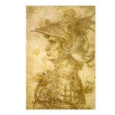 Profile of a warrior in h Postcards (Package of 8)