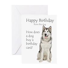 Malamute Birthday Greeting Card