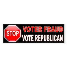 Voter Fraud Bumper Bumper Sticker