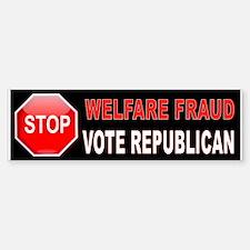 Welfare Fraud Bumper Sticker (Bumper)