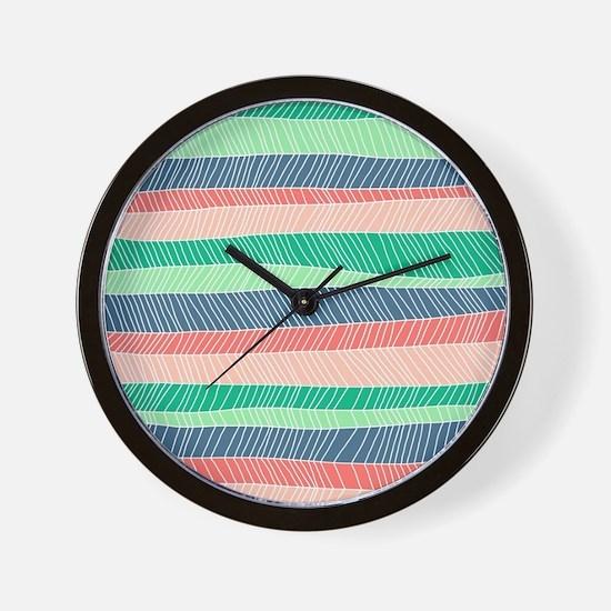 Stripe Dash - Spring Wall Clock