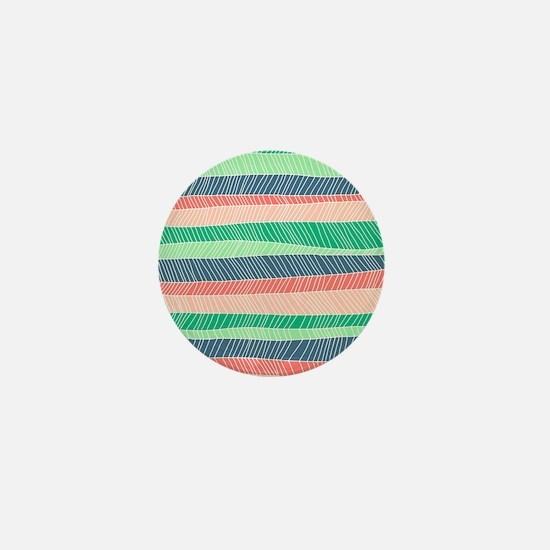 Stripe Dash - Spring Mini Button