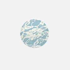 White Lace Pattern Mini Button