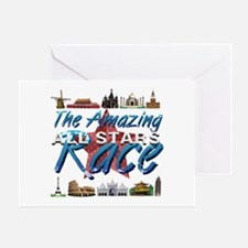 The Amazing Race Greeting Card