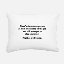 Might As Well Be Me Rectangular Canvas Pillow