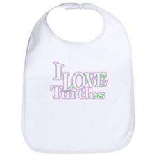 love turtles Bib