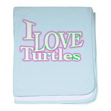 love turtles baby blanket