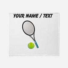 Custom Tennis Racket And Ball Throw Blanket
