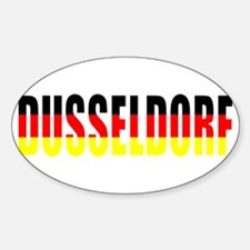 Dusseldorf, Germany Oval Decal