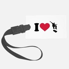 I love Skateboarding Luggage Tag