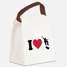 I love Skateboarding Canvas Lunch Bag