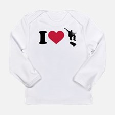 I love Skateboarding Long Sleeve Infant T-Shirt