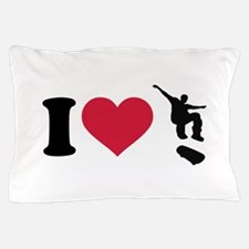 I love Skateboarding Pillow Case