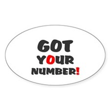 Got Your Number Decal