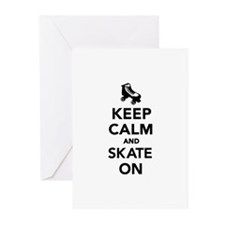 Keep calm and Skate on Greeting Cards (Pk of 20)