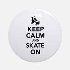 Keep calm and Skate on Ornament (Round)
